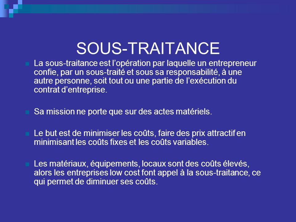 SOUS-TRAITANCE