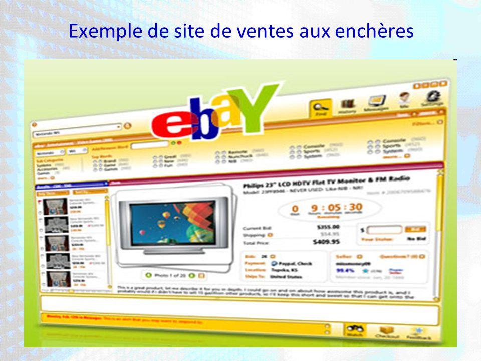 Exemple de site de ventes aux enchères