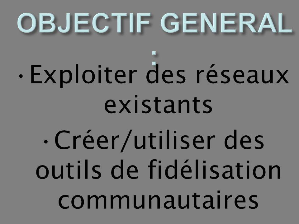 OBJECTIF GENERAL : Exploiter des réseaux existants