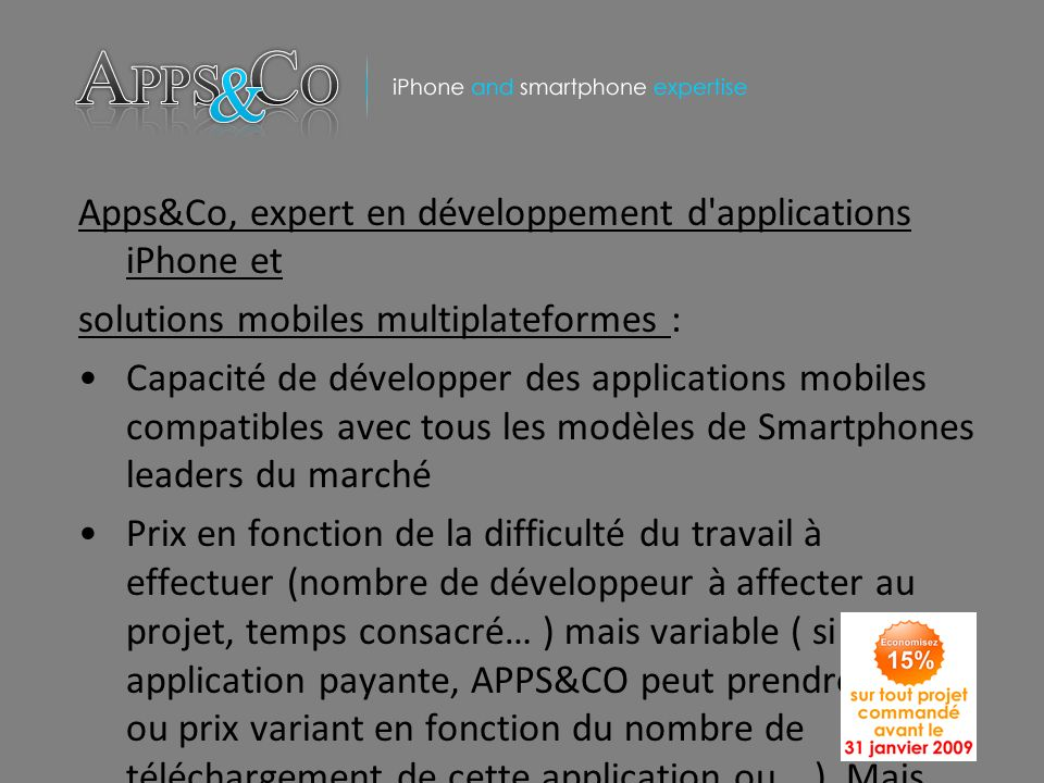 Apps&Co, expert en développement d applications iPhone et