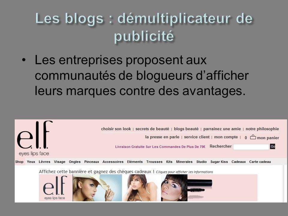 Les blogs : démultiplicateur de publicité