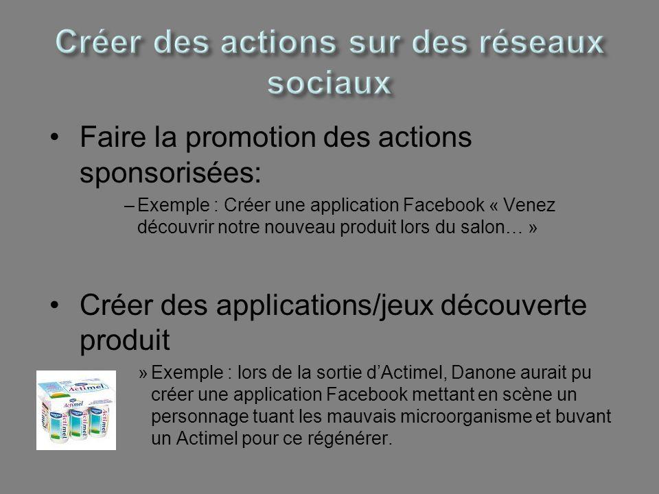 Créer des actions sur des réseaux sociaux