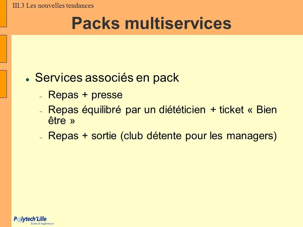 Packs multiservices Services associés en pack Repas + presse 