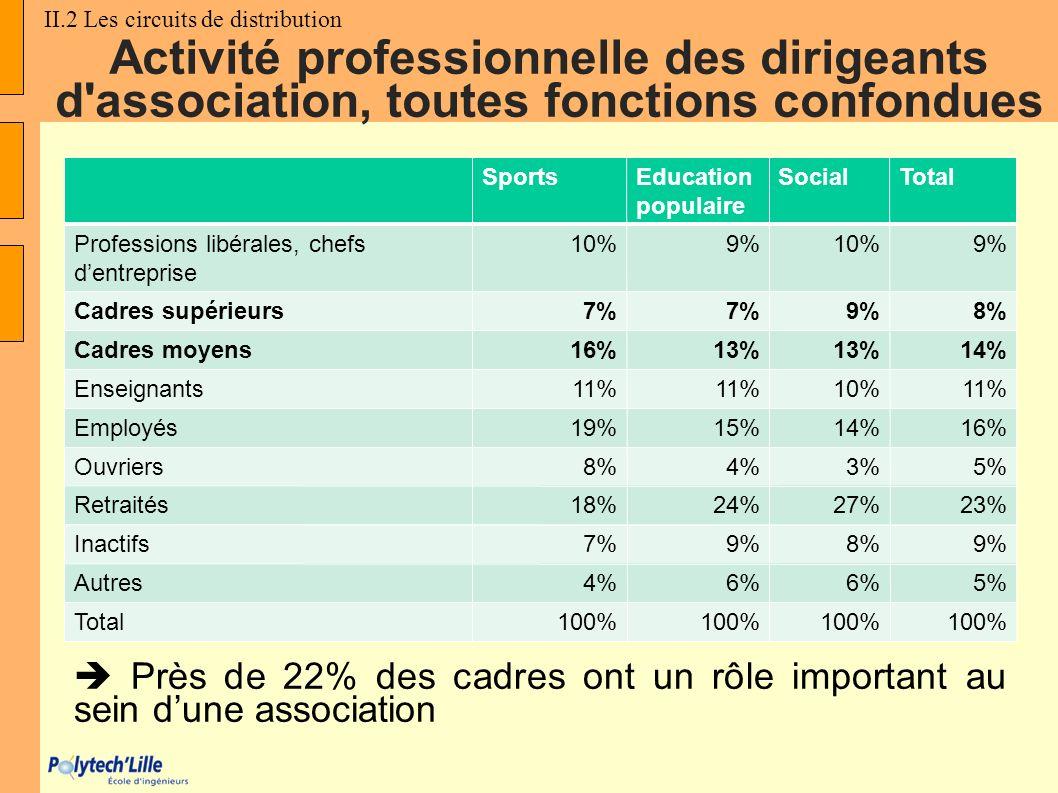 Activité professionnelle des dirigeants