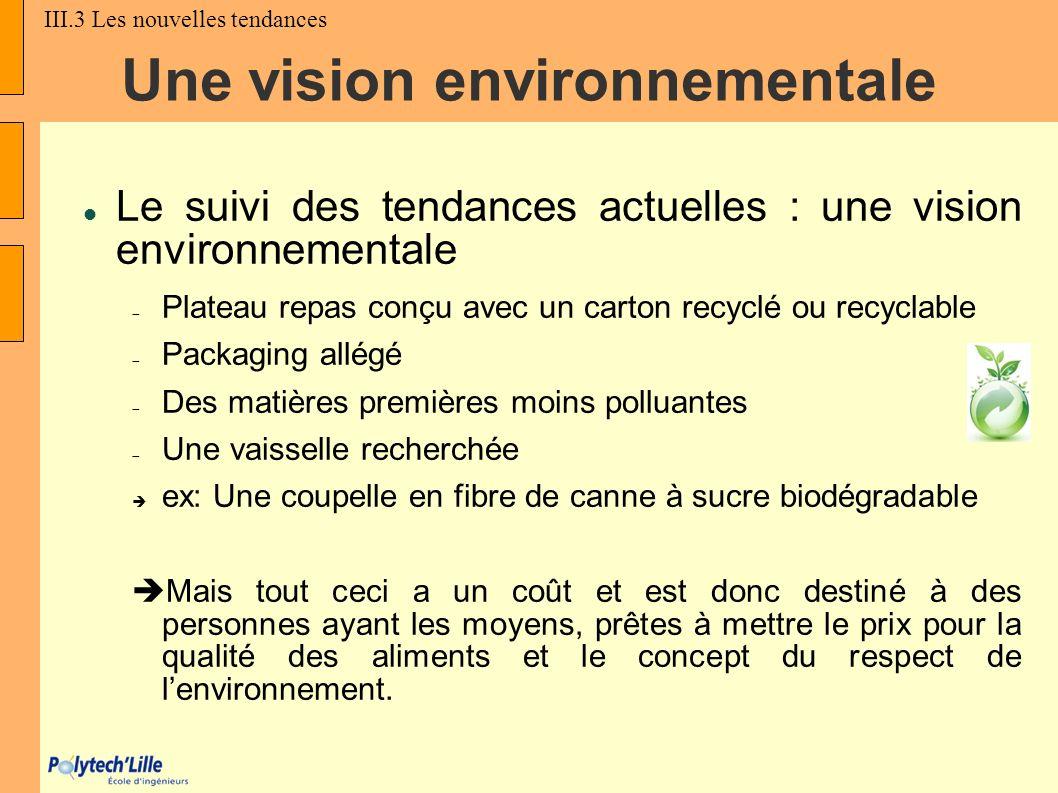 Une vision environnementale
