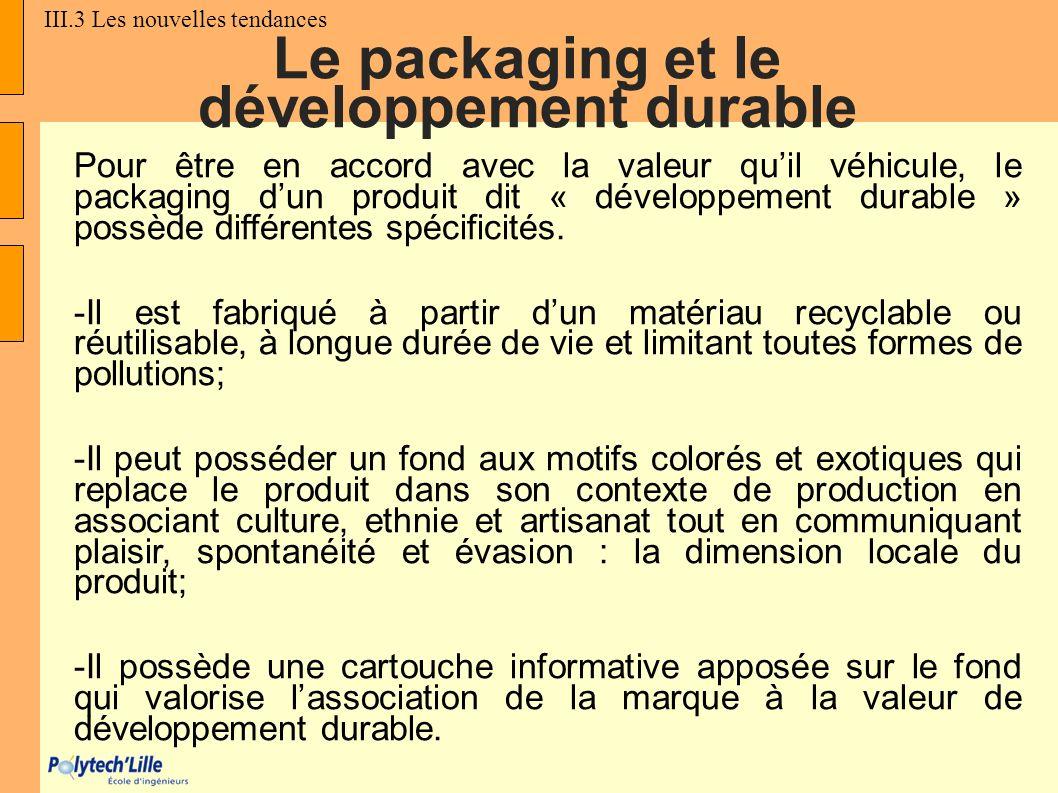 Le packaging et le développement durable