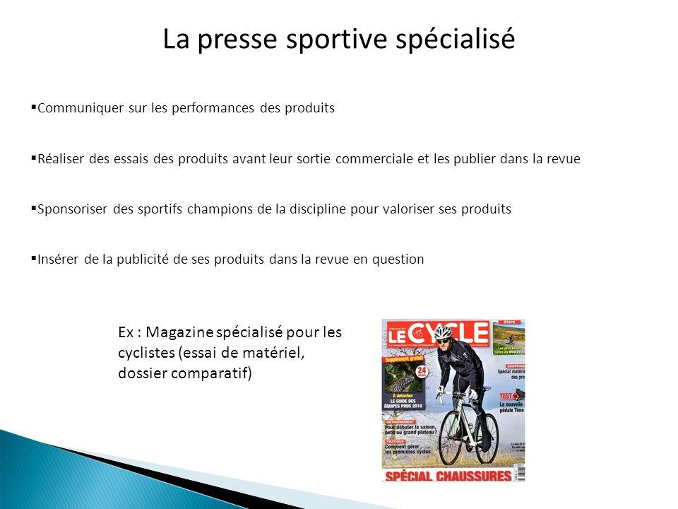 La presse sportive spécialisé