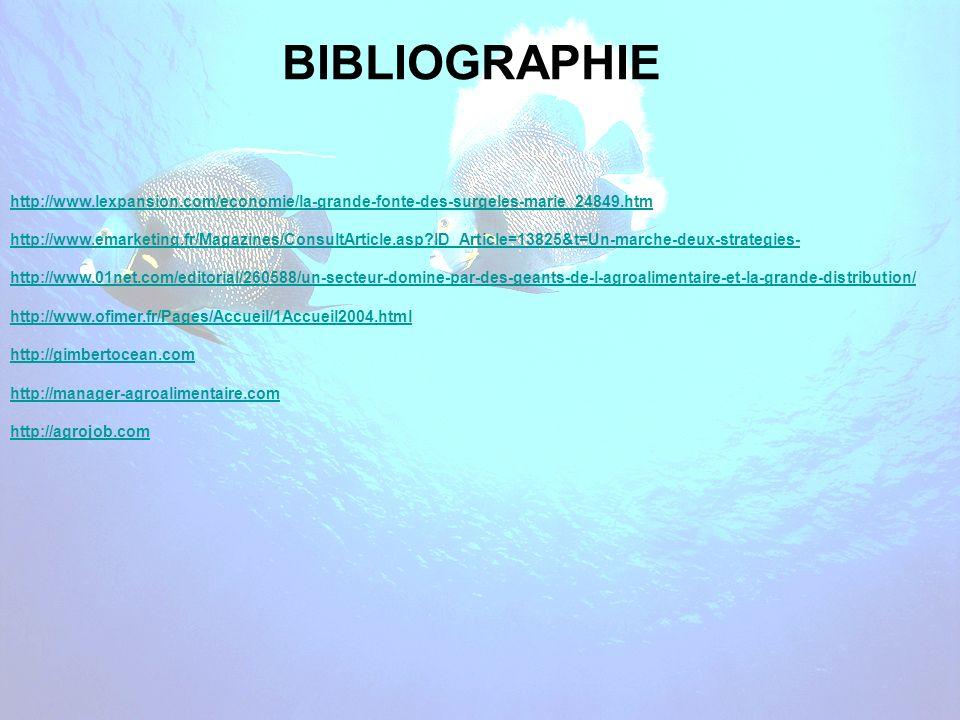 BIBLIOGRAPHIE http://www.lexpansion.com/economie/la-grande-fonte-des-surgeles-marie_24849.htm.