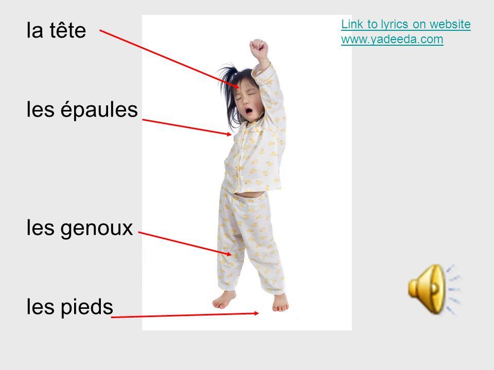 la tête les épaules les genoux les pieds Link to lyrics on website