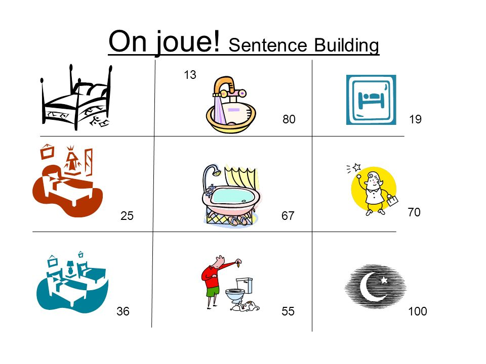 On joue! Sentence Building