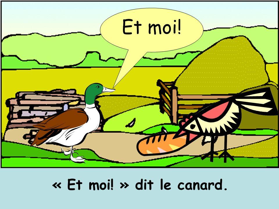 Et moi! « Et moi! » dit le canard.