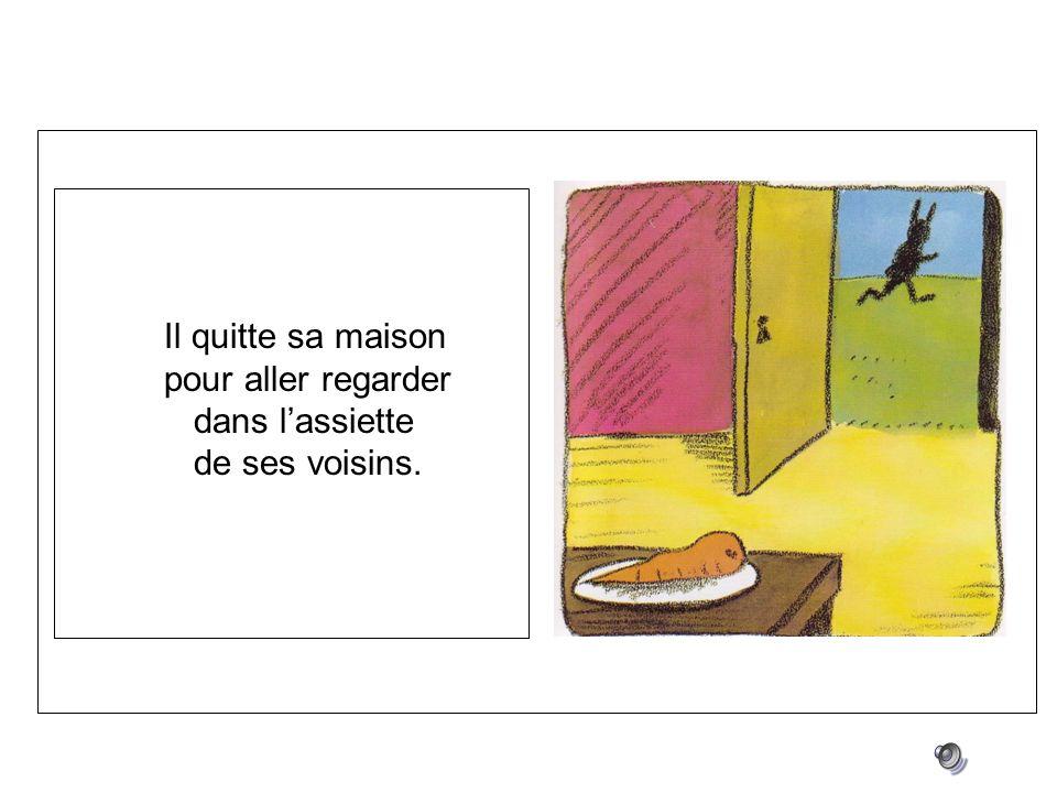 monsieur lapin n aime plus les carottes il quitte sa maison pour aller regarder dans l assiette. Black Bedroom Furniture Sets. Home Design Ideas