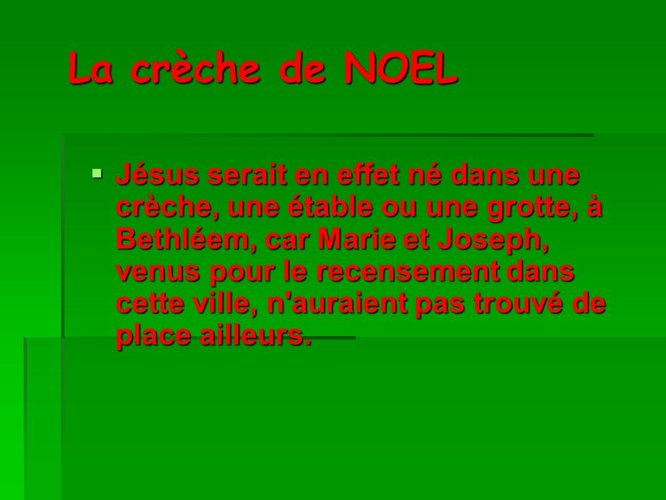 La crèche de NOEL