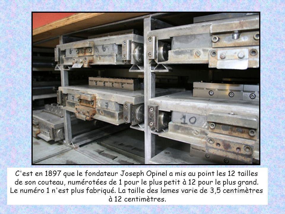 C est en 1897 que le fondateur Joseph Opinel a mis au point les 12 tailles