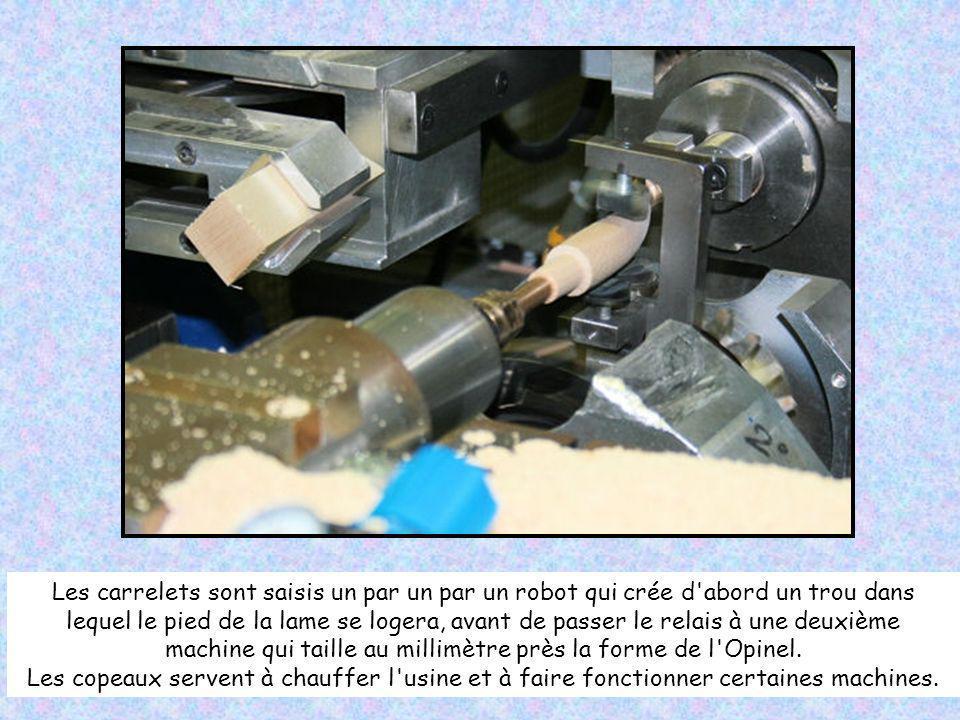 machine qui taille au millimètre près la forme de l Opinel.