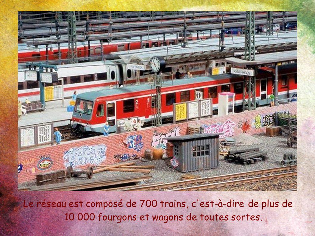 Le réseau est composé de 700 trains, c est-à-dire de plus de 10 000 fourgons et wagons de toutes sortes.