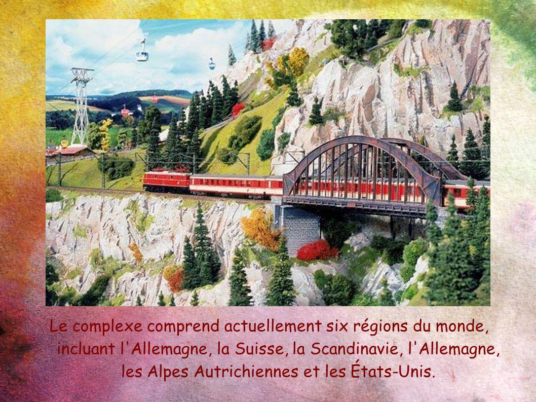 Le complexe comprend actuellement six régions du monde, incluant l Allemagne, la Suisse, la Scandinavie, l Allemagne, les Alpes Autrichiennes et les États-Unis.