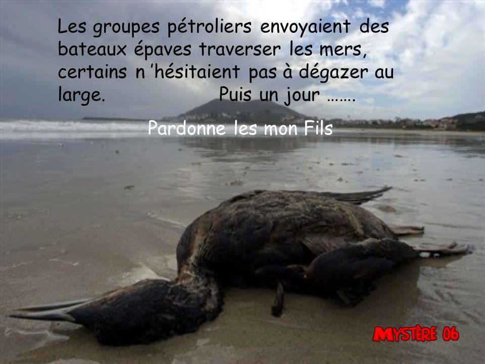 Les groupes pétroliers envoyaient des bateaux épaves traverser les mers, certains n 'hésitaient pas à dégazer au large. Puis un jour …….