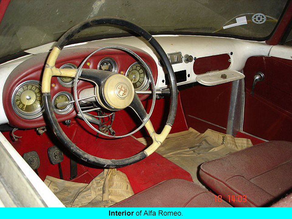 Splendide ! Interior of Alfa Romeo.