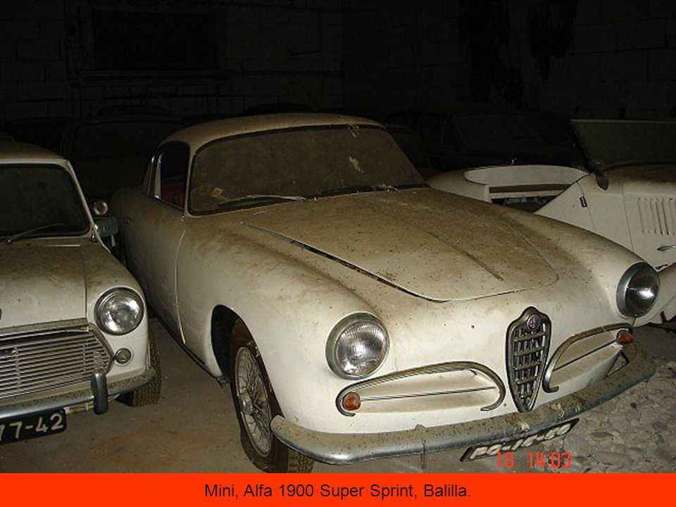 Mini, Alfa 1900 Super Sprint, Balilla.
