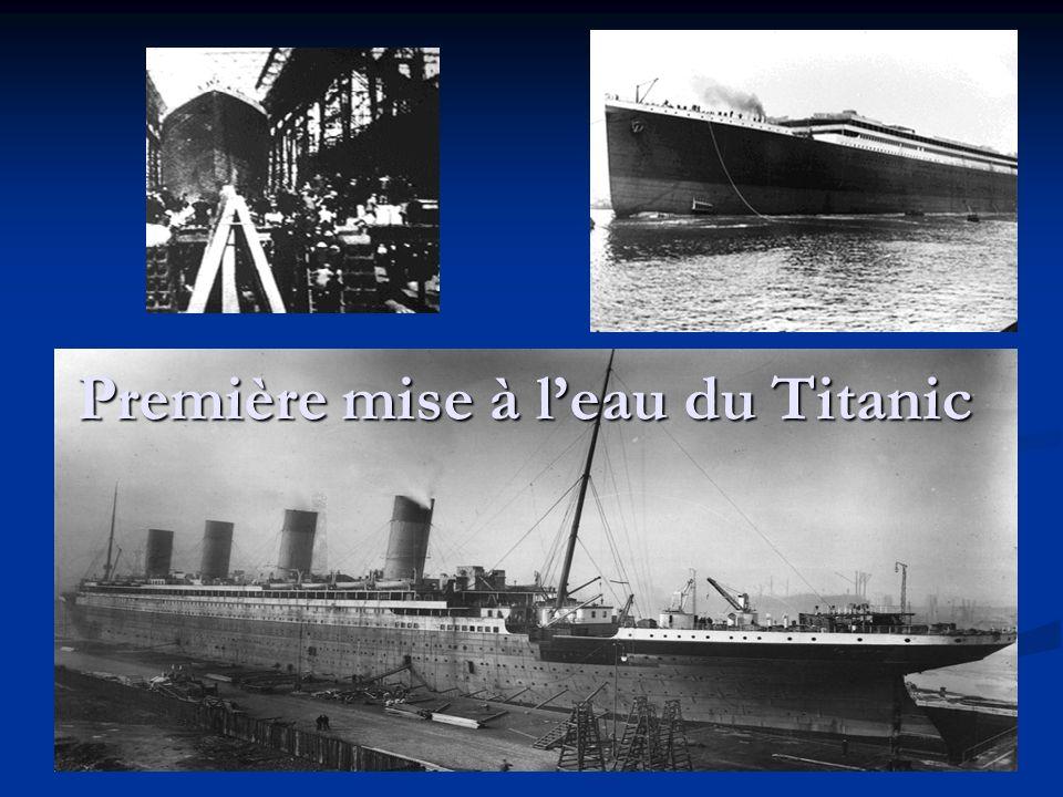 Première mise à l'eau du Titanic