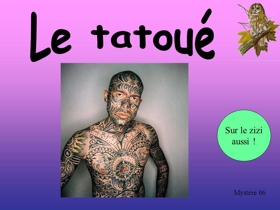 Le tatoué Sur le zizi aussi ! Mystère 06