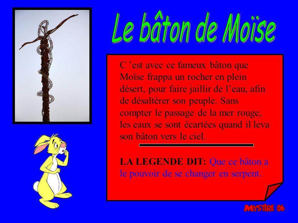Le bâton de Moïse