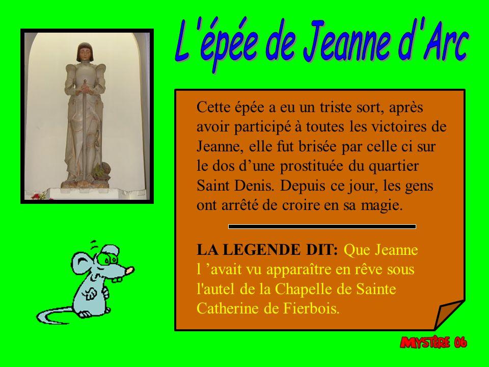L épée de Jeanne d Arc
