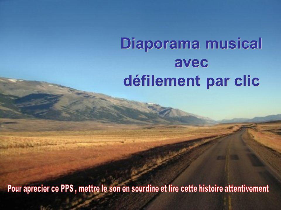 Diaporama musical avec défilement par clic