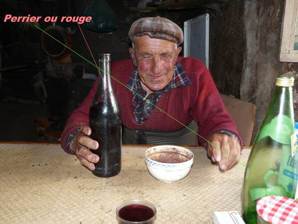 Perrier ou rouge
