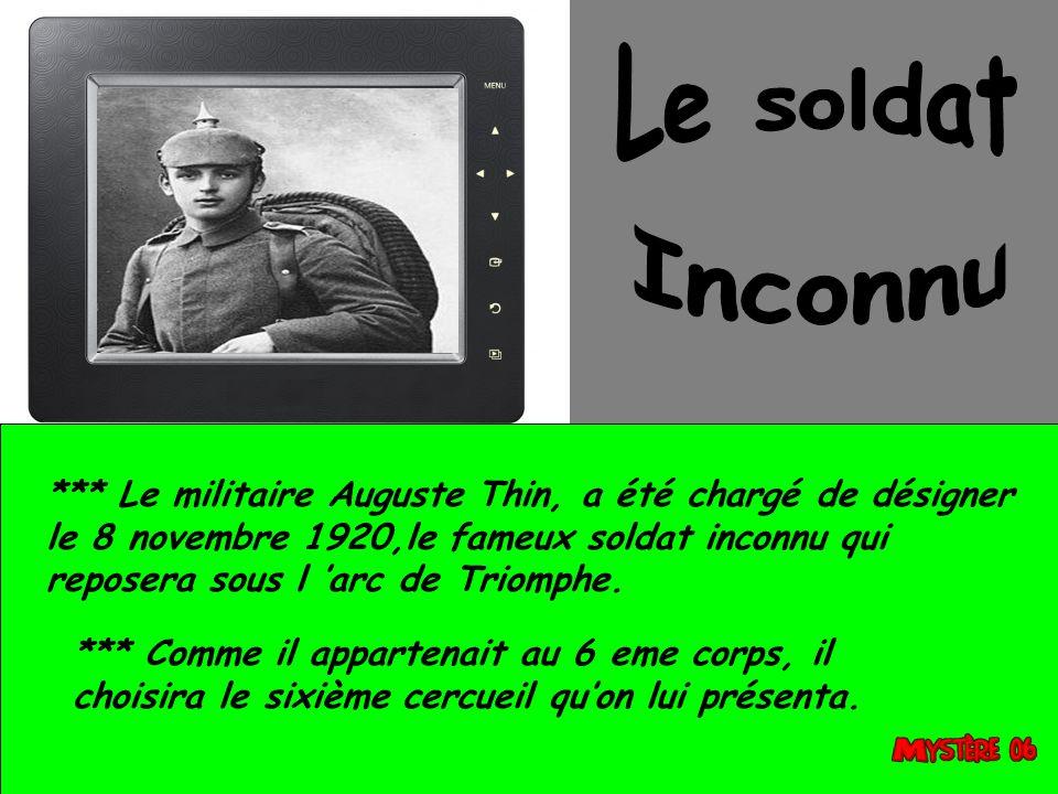 Le soldat Inconnu.