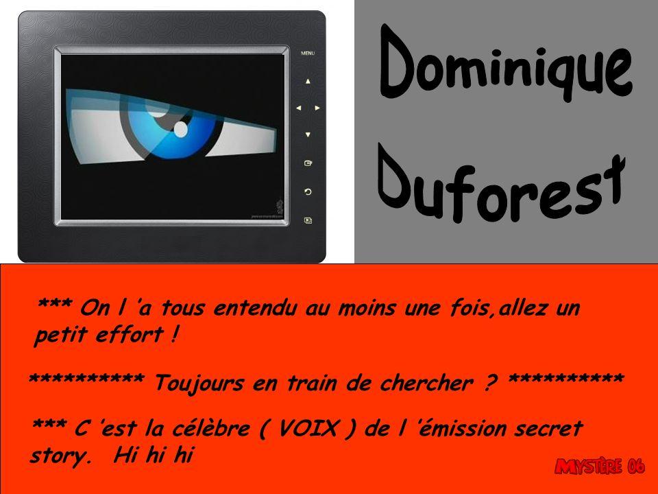 Dominique Duforest. *** On l 'a tous entendu au moins une fois,allez un petit effort ! ********** Toujours en train de chercher **********