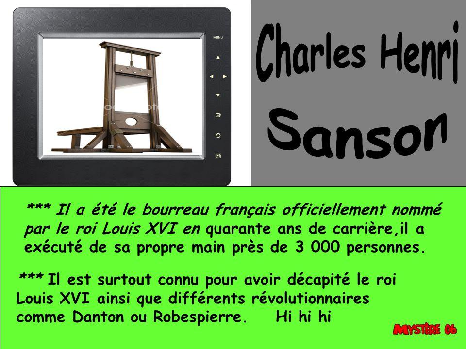 Charles Henri Sanson.