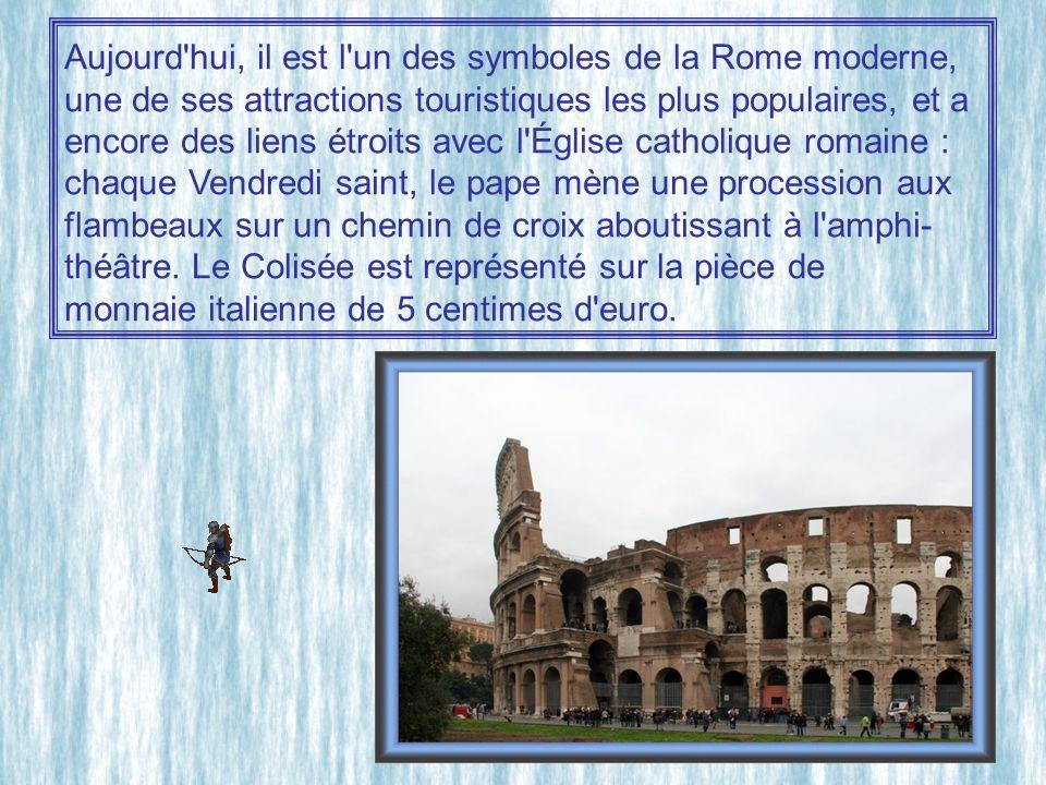 Aujourd hui, il est l un des symboles de la Rome moderne,