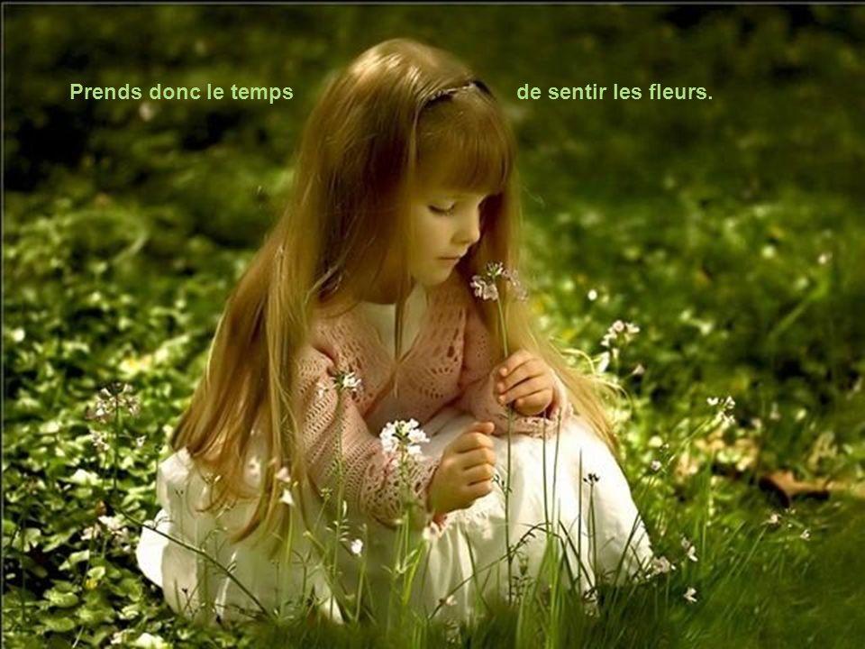 Prends donc le temps de sentir les fleurs.