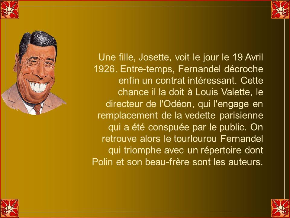 Une fille, Josette, voit le jour le 19 Avril 1926