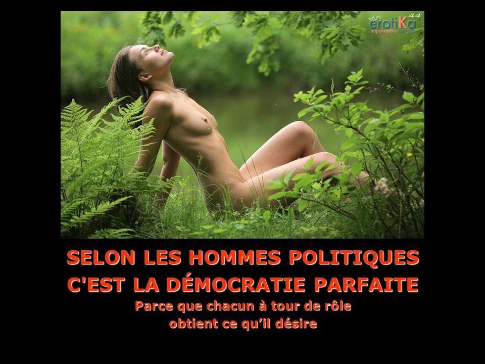 SELON LES HOMMES POLITIQUES C EST LA DÉMOCRATIE PARFAITE