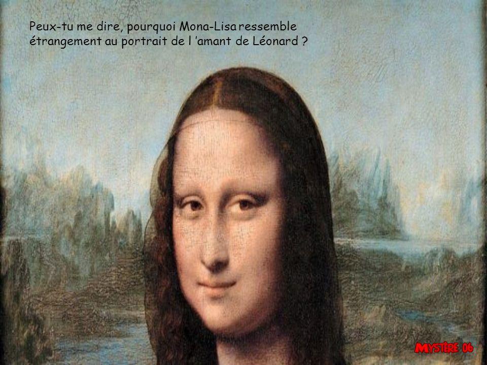 Peux-tu me dire, pourquoi Mona-Lisa ressemble étrangement au portrait de l 'amant de Léonard