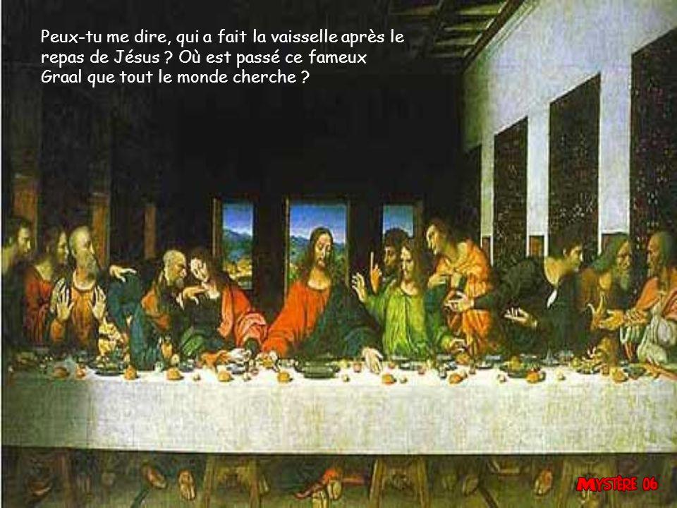 Peux-tu me dire, qui a fait la vaisselle après le repas de Jésus