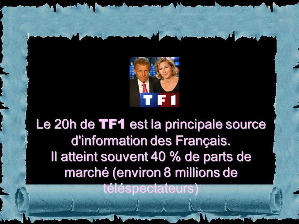 Le 20h de TF1 est la principale source d information des Français