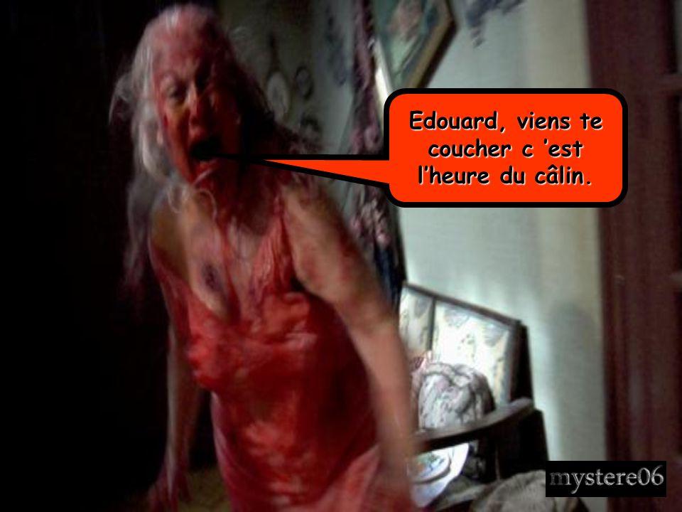 Edouard, viens te coucher c 'est l'heure du câlin.