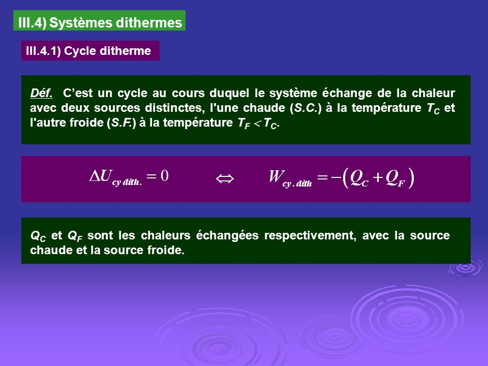 III.4) Systèmes dithermes