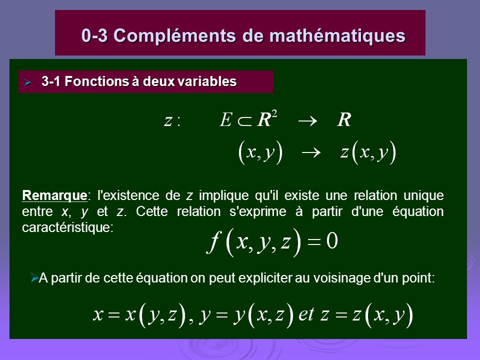 0-3 Compléments de mathématiques