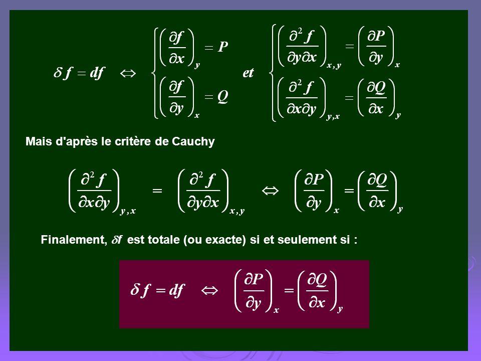 Mais d après le critère de Cauchy