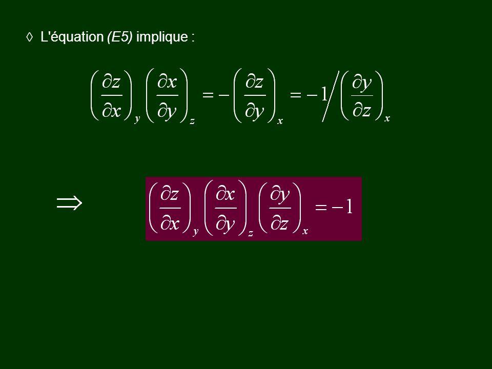 L équation (E5) implique :