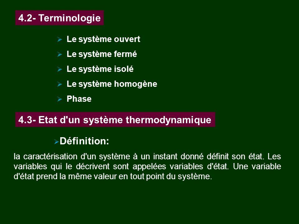 4.3- Etat d un système thermodynamique