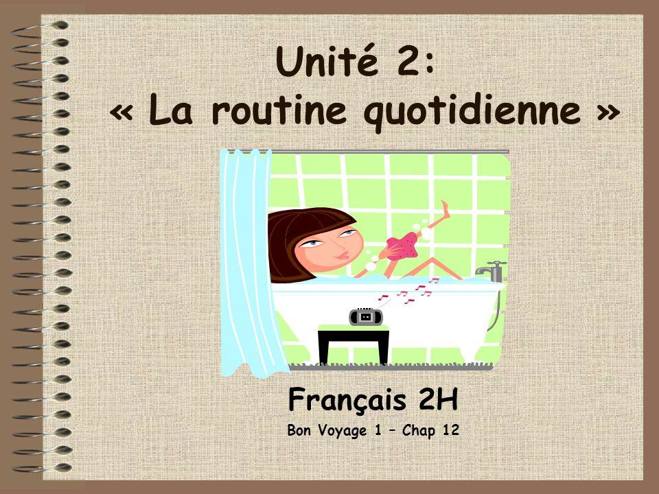Français 2H Bon Voyage 1 – Chap 12