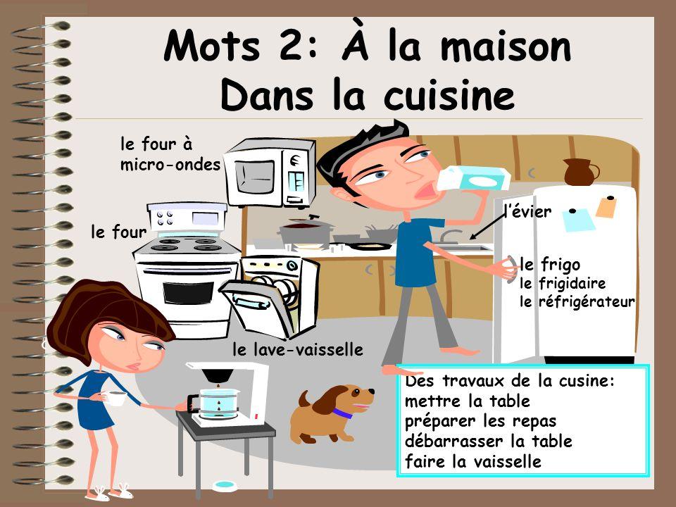 Mots 2: À la maison Dans la cuisine