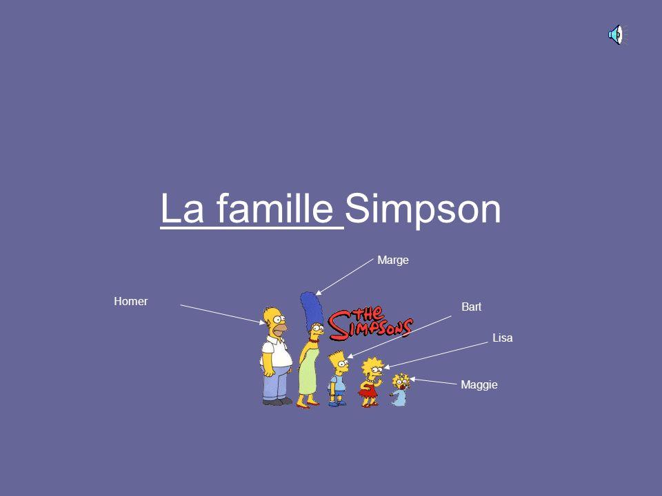 La famille Simpson Marge Homer Bart Lisa Maggie
