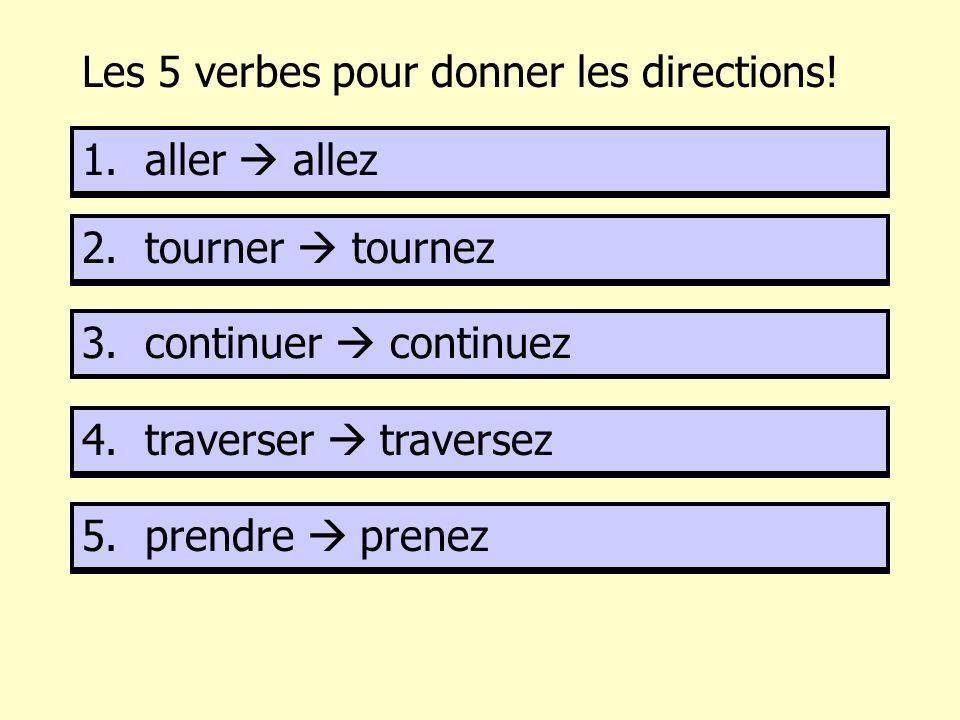 Les 5 verbes pour donner les directions!